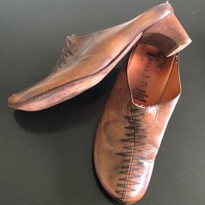 """Think! Durable leather mule w/ 2"""" leather heel"""